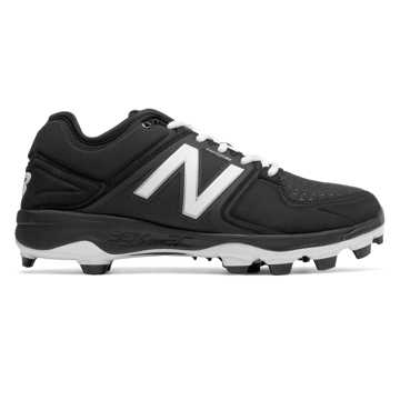 Low-Cut 3000v3 TPU Molded Cleat, Black with White
