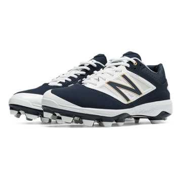 New Balance Low Cut 4040v3 TPU Molded Cleat, Navy with White