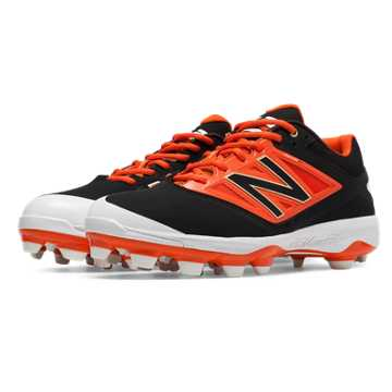 New Balance Low Cut 4040v3 TPU Molded Cleat, Black with Orange