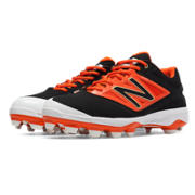 Low Cut 4040v3 TPU Molded Cleat, Black with Orange