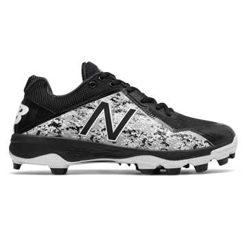Pedroia Low-Cut 4040v4 TPU Molded Cleat, Black with Grey