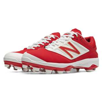 New Balance Low Cut 4040v3 TPU Molded Cleat, Red with White