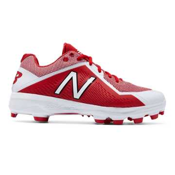 Low Cut 4040v4 TPU Molded Cleat, Red with White