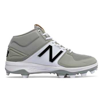 New Balance Mid-Cut 3000v3 TPU Molded Cleat, Grey with White