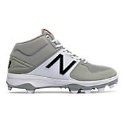 Mid-Cut 3000v3 TPU Molded Cleat, Grey with White