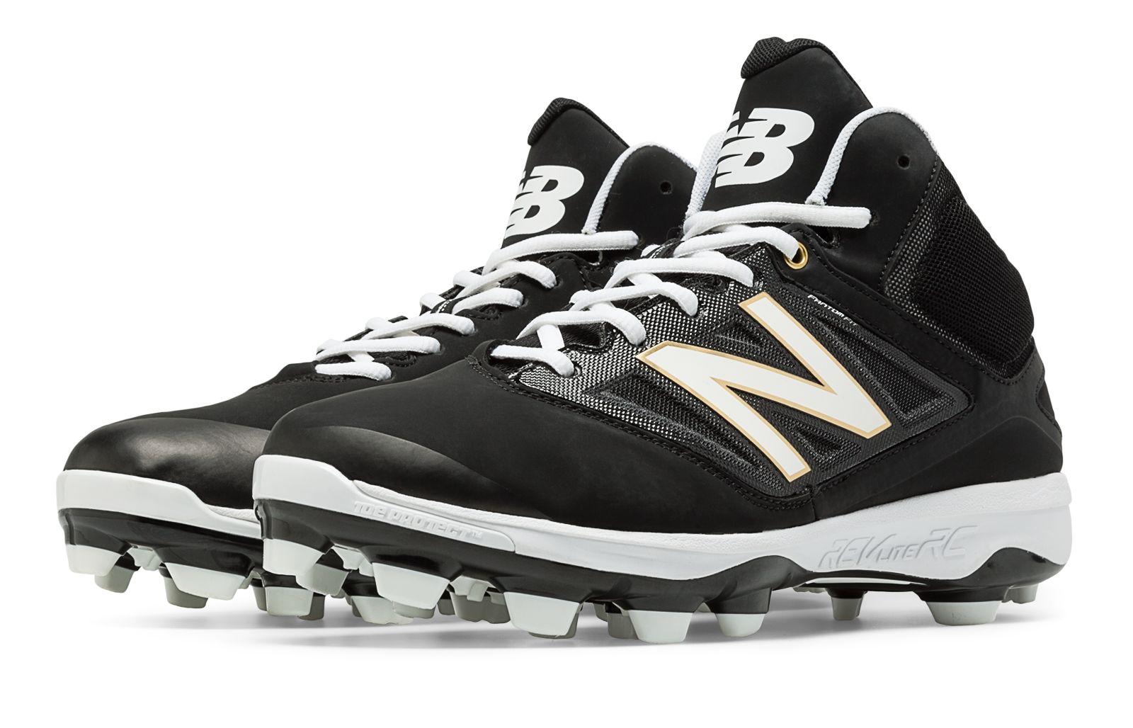 New Balance Mid Cut 4040v2 Tpu Molded Cleat Mens Shoes Black