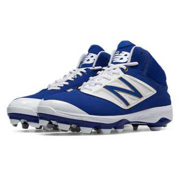 New Balance Mid-Cut 4040v3 TPU Molded Cleat, Royal Blue with White