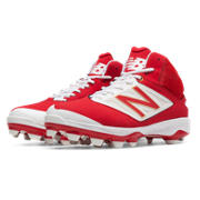 Mid-Cut 4040v3 TPU Molded Cleat, Red with White