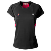 PR Tech Tee, Black with Virtual Pink