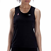 Pink Ribbon Tech Singlet, Black