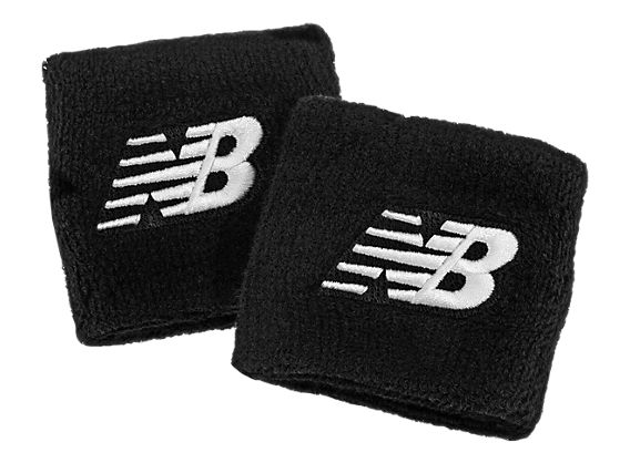 Wristband Pair, Team Black with White