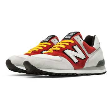 New Balance 574 Walk Off Baltimore, Light Grey with Red