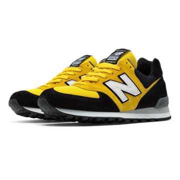 New Balance 574 Walk Off NY, Black with Yellow