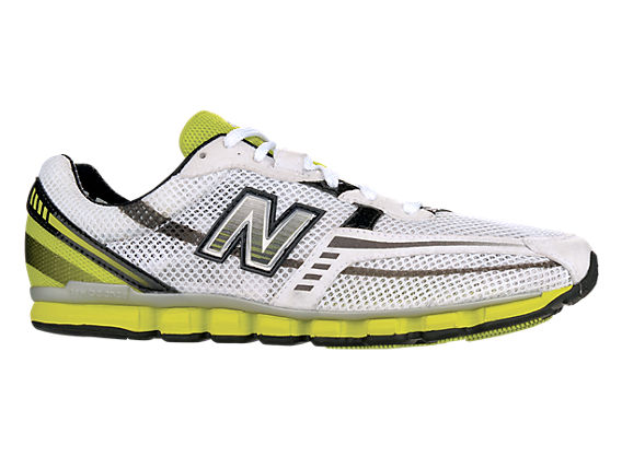 New Balance 130, White with Lime Green
