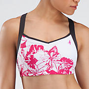 Sweetheart Bra Top, White with Magnet & Magenta
