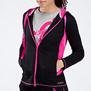 Komen Stride Jacket, Black with Pink Glo