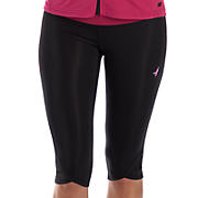 Ultimate Knee Capri, Black with Sangria