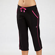 Komen Stride Capri, Black with Pink Glo