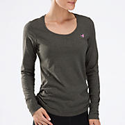 Komen Heather Long Sleeve, Magnet with Pink Glo