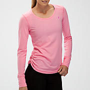 Komen Heather Long Sleeve, Cotton Candy with Pink Glo