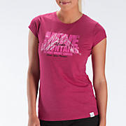 Komen LU Move Mountains Tee, Sangria