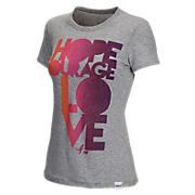 Komen Hope Courage Love Tee, Athletic Grey
