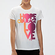 Komen Hope Courage Love Tee, White