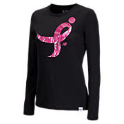 Komen Ribbon long sleeve Tee, Black