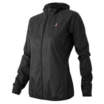 New Balance Pink Ribbon Windcheater Jacket, Black
