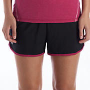 Momentum Short, Black with Sangria & White