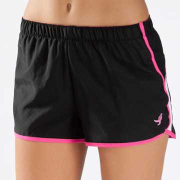 New Balance Pink Ribbon Momentum Short, Black with White & Pink Glo