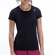 Komen Go 2 Short Sleeve Tee, Black with Sangria