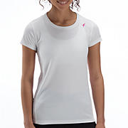 Komen Go 2 Short Sleeve Tee, White with Sangria