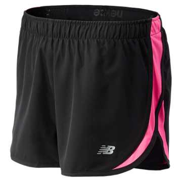New Balance Pink Ribbon Accelerate Short, Black with Amp Pink