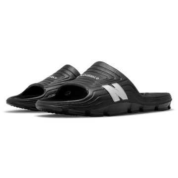 New Balance Float Slide, Black with Silver