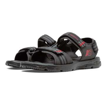 New Balance Rev Plush H20 Sandal, Black with Grey