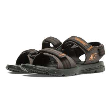 New Balance Rev Plush H20 Sandal, Brown with Orange