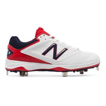 New Balance Low-Cut 4040v1 4th of July Metal Cleat, Red with White & Blue