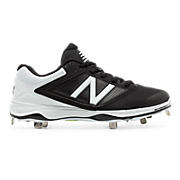 Women's Low-Cut 4040v1 Metal Cleat, Black with White