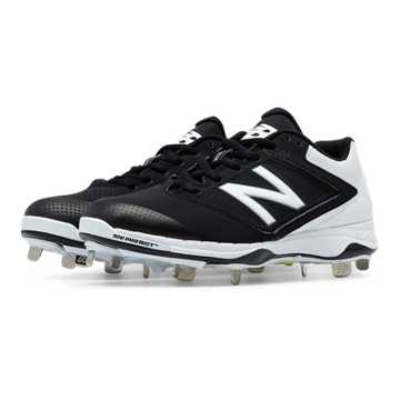 New Balance Low Cut 4040v1 Metal Cleat, Black with White