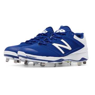 New Balance Low Cut 4040v1 Metal Cleat, Royal Blue with White
