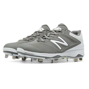 New Balance Low Cut 4040v1 Metal Cleat, Grey with White