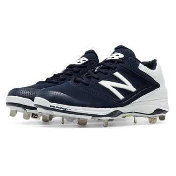 New Balance Low Cut 4040v1 Metal Cleat, Navy with White