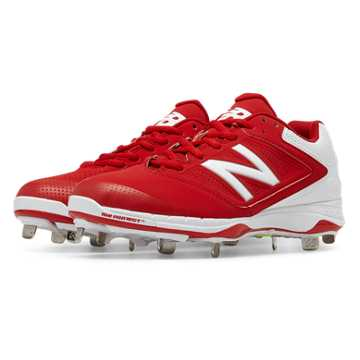 New Balance Low Cut 4040v1 Metal Cleat, Red with White