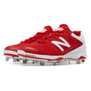 Low Cut 4040v1 Metal Cleat, Red with White