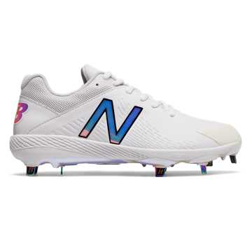 Women's Low-Cut Hero Fuse Metal Cleat, White with Rose Gold