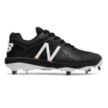 Women's Low-Cut Fuse Metal Cleat, Black with White