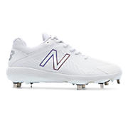 Women's Low-Cut Fuse Metal Cleat, White with White