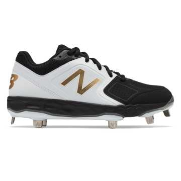 Low-Cut Velo1 Metal Cleat, Black with White