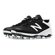 Women's Low-Cut 4040v1 Plastic Cleat, Black with White